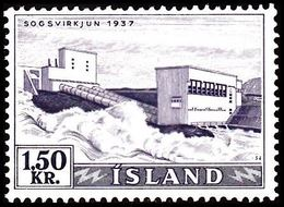 1956. Electric Power Plants And Waterfalls Og Vandfald. 1,50 Kr. (Michel 306) - JF363600 - 1944-... Republic