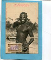 A O F- Sénégal- Fillette Malinké-seins Nus-gros Plan Animé-édition Fortier-années 1910-20 - Senegal