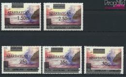Aserbaidschan 70II-74II (kompl.Ausg.) Postfrisch 1992 Aufdruckausgabe (9458327 - Azerbaïdjan