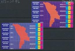 Moldawien 139Fb-150Fb Folienblatt (kompl.Ausg.) 2 Markenkarten Postfrisch 1994 Flugpostmarkenkarten (9458294 - Moldawien (Moldau)