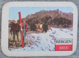 Sous-bock BERGEN BIER (ski, Montagne, Neige) Bierdeckel Bierviltje Coaster (CX) - Sotto-boccale