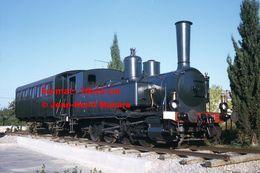 ReproductionPhotographie D'un Ancien Train Et Wagon Du Montpellier-Palavas à L'arrêt En 1969 - Reproducciones