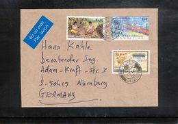 Mauritius 2002  Interesting Airmail Letter - Mauricio (1968-...)