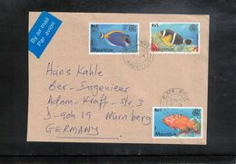 Mauritius 2002 Fishes Interesting Airmail Letter - Mauricio (1968-...)