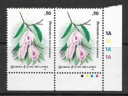 Sri Lanka 1994 Orchid Circle Of Ceylon 50c MNH Set Of 2 Stamps SG1286 - Sri Lanka (Ceylan) (1948-...)