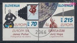Slowenien 80-81 Paar (kompl.Ausg.) Gestempelt 1994 Entdeckungen Und Erfindungen (9464005 - Slovénie