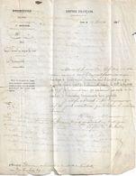 Lettre Du Préfet Du Calvados, 1858 - Historical Documents