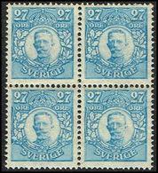 1911-1919. Gustav V. 27 öre. 4-BLOCK.  (Michel 76) - JF363731 - Neufs
