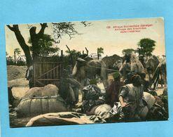 A O F- Sénégal-Arrivage Des Arachides Dans L'intérieur-gros Plan Animé-années 1910-20 - Senegal
