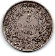 5 Francs 1850 A -  état  TB+ - J. 5 Franchi