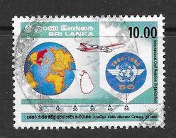 Sri Lanka 1994 Civil Aviation Rs10.00 Used Stamp SG1280 - Sri Lanka (Ceylan) (1948-...)