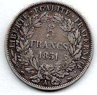 5 Francs 1851 A -  état  TB+ - J. 5 Franchi