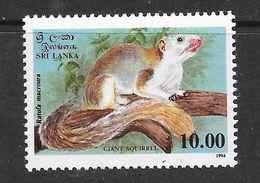 Sri Lanka 1994 Giant Squirrel Rs10.00 MNH Stamp SG1277 - Sri Lanka (Ceylan) (1948-...)