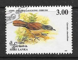 Sri Lanka 1993 Endemic Birds Laughing Thrush  Rs3.00 Used Stamp SG1242 - Sri Lanka (Ceylan) (1948-...)