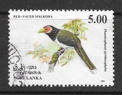 Sri Lanka 1993 Endemic Birds Malkoha  Rs5.00 Used Stamp SG1244 - Sri Lanka (Ceylan) (1948-...)