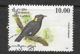 Sri Lanka 1993 Endemic Birds Ceylon Hill Mynah  Rs10.00 Used Stamp SG1245 - Sri Lanka (Ceylan) (1948-...)