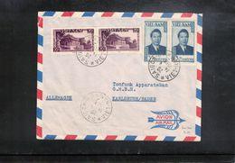 Vietnam 1953 Interesting Airmail Letter - Viêt-Nam