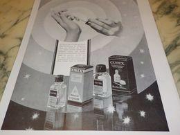 ANCIENNE PUBLICITE LA TEINTE DES ONGLES  CUTEX 1933 - Parfum & Kosmetik