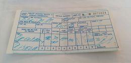 Old Avion Ticket Yugoslav Airlines Airways Aerodrom Beograd  Yugoslavia Jugoslawien - Tickets - Vouchers