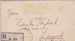 RECO, RECOMMANDE  LETTRE, --  BRIEF MIT INHALT --  1949  --   STEMPEL PRIVLAKA Bei VINKOVCI Nach ZAGREB, CROATIA - Croatie