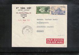 Vietnam 1956 Interesting Airmail Letter - Viêt-Nam