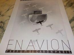 ANCIENNE PUBLICITE PARFUM EN AVION  DE CARON 1933 - Autres