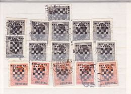 STAMP NDH  --  NEZAVISNA DRZAVA HRVATSKA  --  OVERPRINT - Croatie