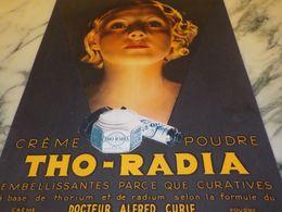 ANCIENNE PUBLICITE CREME  DE THO RADIA 1933 - Parfum & Kosmetik
