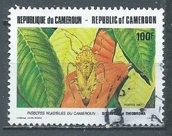 Cameroun YT N°816 Insecte Distantiella Theobroma Oblitéré ° - Cameroun (1960-...)