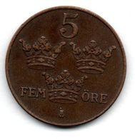 Suède -  5 Ore 1938  -  Etat  TTB - Schweden