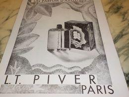 ANCIENNE PUBLICITE PARFUM D AVENTURE  L.T PIVER 1933 - Parfum & Kosmetik