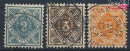 Württemberg D104-D106 (kompl.Ausg.) Gestempelt 1896 Ziffern In Raute (9464318 - Wuerttemberg