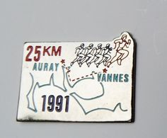Pin's 25 Km Course 1991 Auray Vannes - 117R - Cities