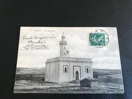 7 - DJELFA La Mosquée - 1910 Timbrée - Cap. 2e Bataillon D'Afrique - Djelfa