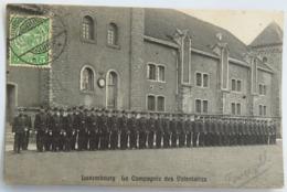 "C. P. A. : LUXEMBOURG : La Compagnie Des Volontaires, Timbre En 1912, Beau Cachet ""Luxembourg Gare"" - Luxemburg - Stad"