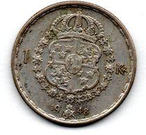 Suède -  1 Krone 1948  -  Etat TTB - Schweden