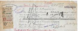 Lettre De Change 1928 De 14.050 Francs Avec 8 Timbres Fiscaux - Revenue Stamps