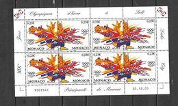 Olympic Games 2002 , Monaco -  Zegels In Velletje  Postfris - Winter 2002: Salt Lake City