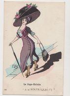 """Carte Fantaisie Signée F.Lafon  / Mode . La Jupe-culotte """"A La Versaillaise """" - Künstlerkarten"""