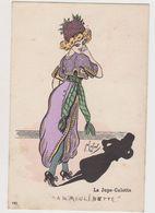 "Carte Fantaisie Signée F.Lafon  / Mode . La Jupe-culotte ""A La Moulinette"" - Künstlerkarten"