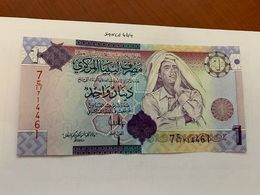 Libya 1 Dinara Uncirc. Banknote 2009 #2 - Libyen
