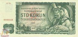 CZECHOSLOVAKIA 100 KORUN 1961 PICK 91c UNC - Tsjechoslowakije
