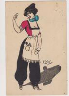 Carte Fantaisie Signée F.Lafon / Jeune Femme , Allure à La Garçonne ( Cigarette , Béret ) - Künstlerkarten