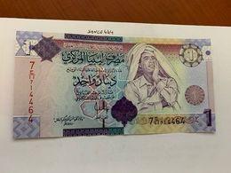 Libya 1 Dinara Uncirc. Banknote 2009 #3 - Libyen