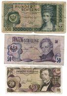Austria Lot 3 Banknotes - Austria