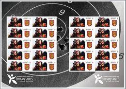 Jersey 2015, Island Games, Shooting, Commemorative Sheetlet - Tiro (armi)