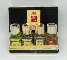 """Flacons De Parfum Anciens - MOLINES """"Les 5 Fleurs"""" Coffret - Parfums"""