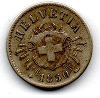 Suisse - 5 Rappen 1850 BB  -  Etat TTB - Suisse