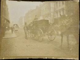 PHOTO ORIGINALE _ VINTAGE SNAPSHOT De 1894 : Attelage - Cheval Chevaux - Voiture - Oud (voor 1900)