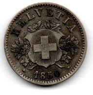 Suisse - 20 Rappen 1850 BB  -  Etat TB+ - Suisse